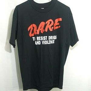 Vintage Dare T Shirt fruit of the loom sz L